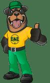 E&E Lawn Care Service's Bear Mascot
